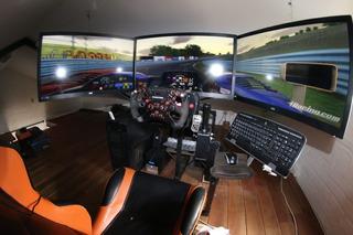 Simulador De Autos De Carrera Pc. Cockpit, Soporte Volante