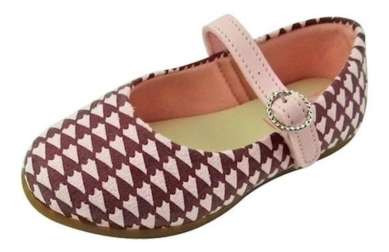 Sapato Boneca Baby - Rosa E Vinho