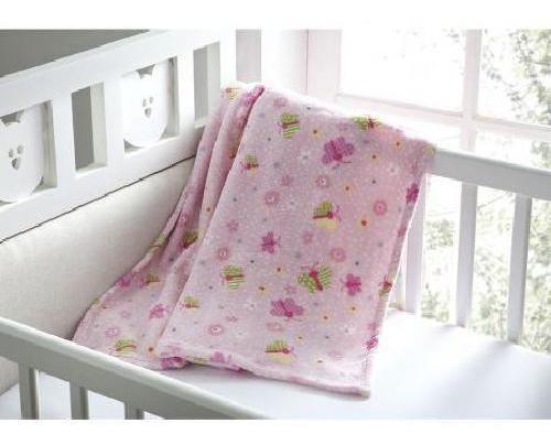 Manta Bebê Glorious Baby Flannel Lule Rosa