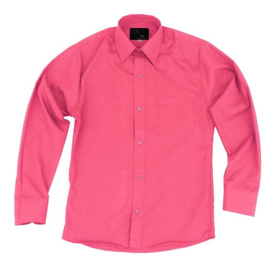 Camisa De Vestir Para Adulto Coral Tallas Extras 44 A 50
