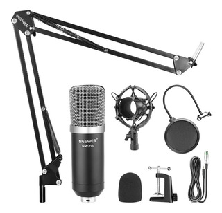Kit Micrófono Condensador Estudio De Grabación Profesional