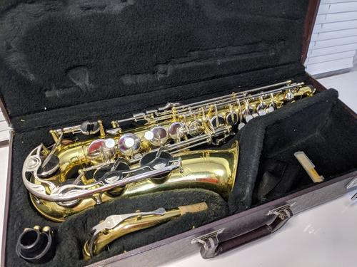Saxofone Alto Mib Yamaha Yas 23 Dourado Japão Original