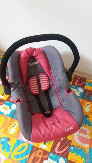 Bebê Conforto Kiddo Nest Rosa E Cinza