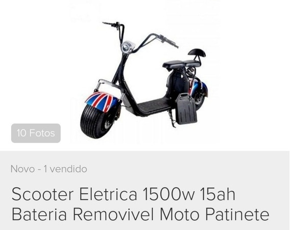 Harley Elétrica Mini Scooter