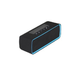 Parlante Rectangular Bluetooth Portatil Negro/azul Kube