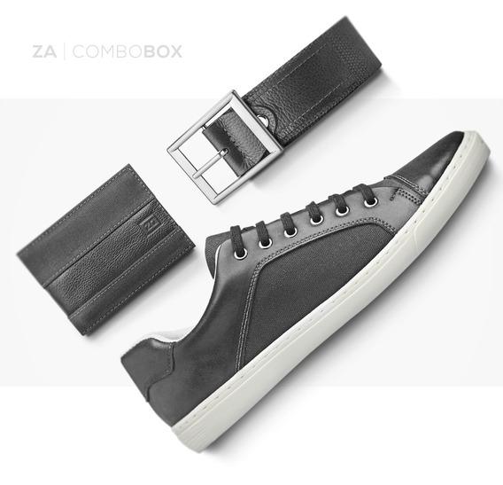 Sapatênis Masculino Kit Tênis Sapato Cinto E Carteira Zalupe