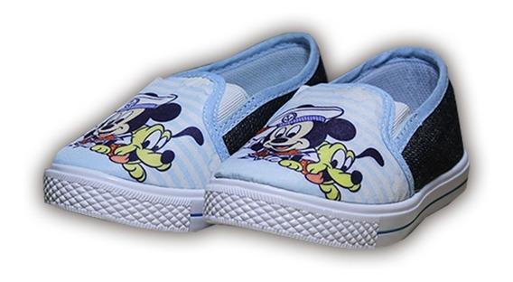 Sapatenis Infantil Personagem Mickey Sem Cadarço Meninos