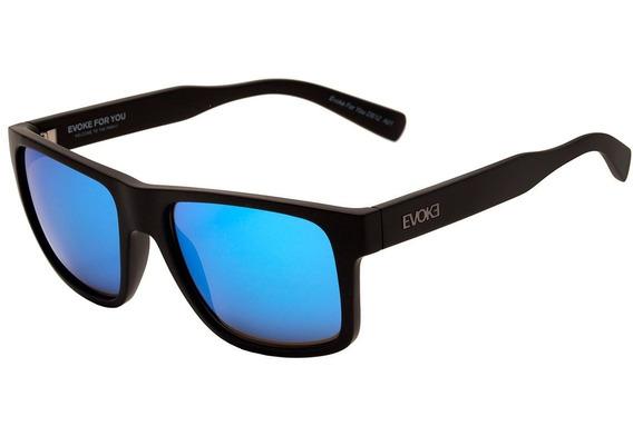 Óculos De Sol Evoke For You Ds1 A01 Matte Black / Blue Espel