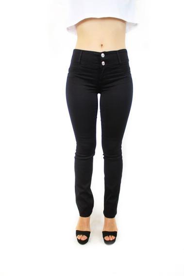 Pantalón Dama Levanta Pompa Recto Negro Shady Jeans 578-02