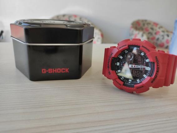 Relógio Casio G-shock Ga100b Vermelho