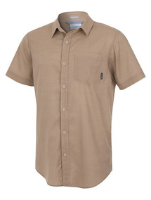 Camisa Columbia M/c Cape Side Solid Short Sleeve Shirt