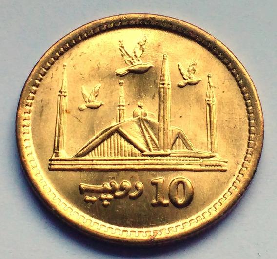 Moneda De Pakistán, 10 Rupees 2016. Sin Circular.
