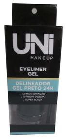 Delineador Em Gel Uni Makeup Super Black 24h + Brinde