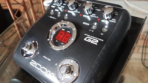 Pedal Pedaleira Zoom G2 Com Fonte E Expositor