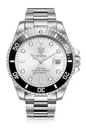 Relógio Tevise Mecânico T801a Masculino Original - Branco