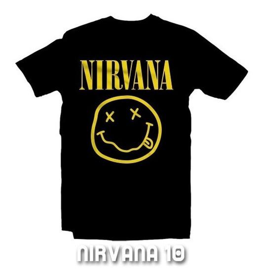 Playeras Nirvana - 15 Diseños Disponibles Con Envío