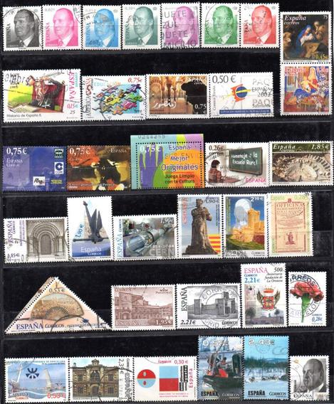 España 2002/2010. Bonito Lote De 50 Sellos Modernos, Usados