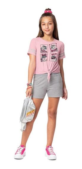 Conjunto Juvenil Infantil Menina Roupa Teen Modinha Fashion