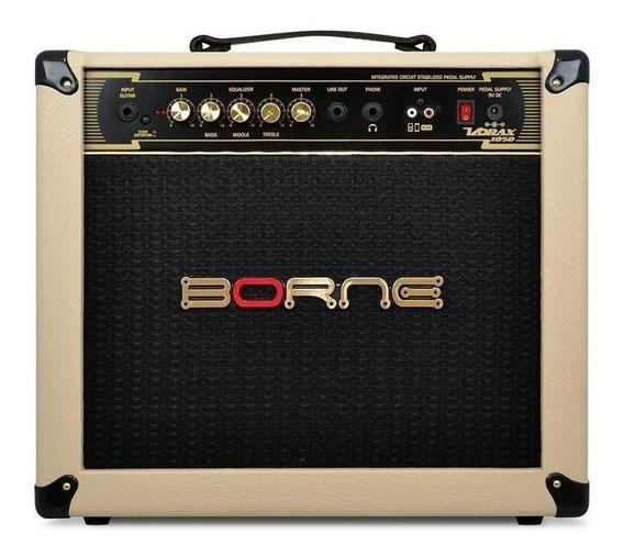 Amplificador Borne Vorax 1050 50W nata e dourado 110V/220V