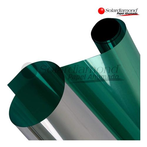 Papel Ahumado Espejo Verde 1.5m X 2m Solardiamond Hp