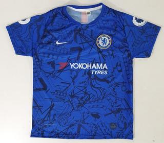 Camisa Infantil Chelsea Azul Frete Gratis