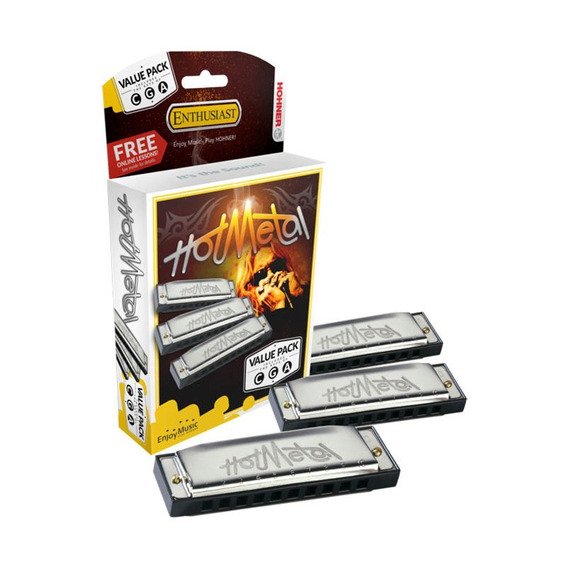 Armonica Hohner Hot Metal Pack X 3 C-g-a