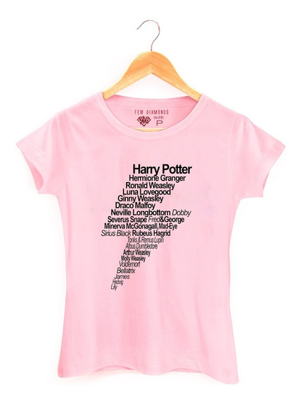Camiseta Camisa Feminina Harry Potter Personagens Hermione
