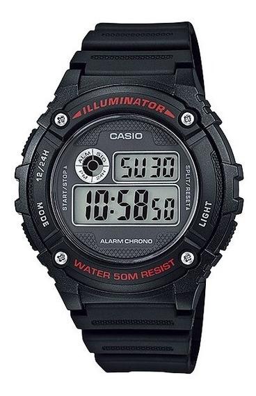 Relógio Casio Masculino W-216h1avdf Preto + Brinde