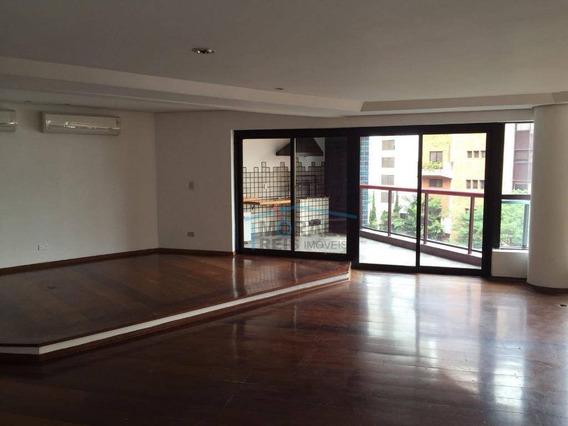 Apartamento Com 4 Dormitórios Para Alugar, 270 M² Por R$ 7.000,00/mês - Paineiras Do Morumbi - São Paulo/sp - Ap14490