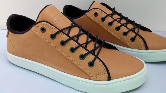 Zapatillas De Vestir De Cuero Flow Sesh Marrones Brown
