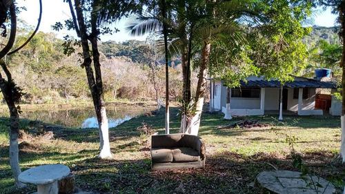 Imagem 1 de 14 de Juquitiba/chácara Plana C/lago/riacho/ac Auto/ref:05231