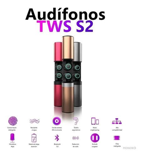 Imagen 1 de 4 de Audífonos Inalambricos Tws S2