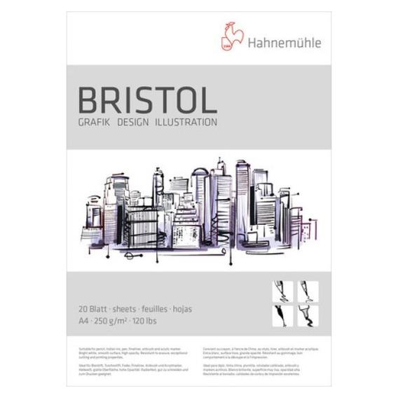Papel Desenho Hahnemühle Bristol 250g/m² Bloco A4 20 Folhas