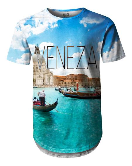 Camiseta Masculina Longline Oversized Veneza Swag