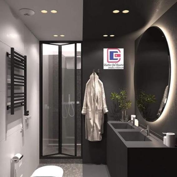Espejo Redondo Diámetro 90 Cm Con Luz Led - Estupendo !!