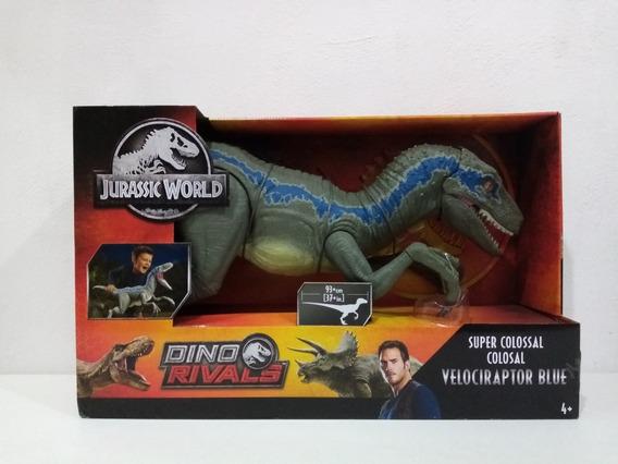 Jurassic World Velociraptor Blue Super Colosal Dinosaurio C