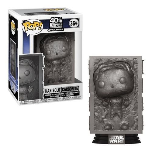 Funko Pop Star Wars Han Solo Carbonite 364 Original Nuevo