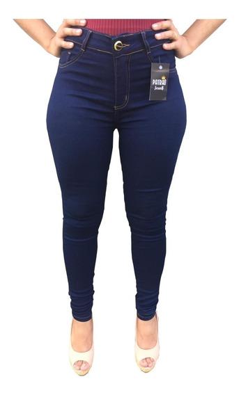 Calça Jeans Feminina Azul Marinho Uniforme Calça Social Moda