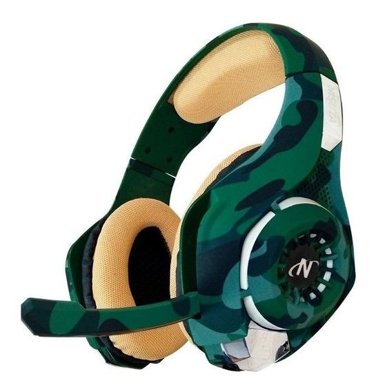 Auriculares gamer Nisuta NSAUG300C verde camuflado