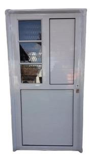 Puerta De Aluminio Lateral Con Vidrio Transparente