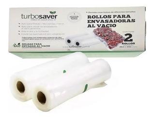 Rollos X2 Br2805 Bolsas Gofradas 28cmx5m Envasadora Al Vacío