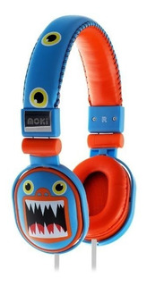 Audifonos Diadema P/niño Popper Monsters Azul Moki Acchppo3