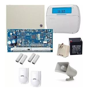 Kit Alarma Dsc Serie Neo + 7 Sensores + Sirena + Gabinete