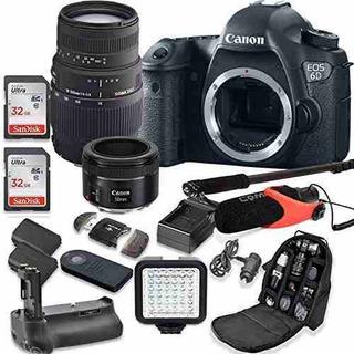 Canon Eos 6d 20.2mp Full Frame Cmos Digital Slr Cámara Réfl
