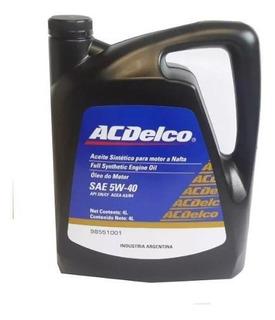 Aceite Sintetico Acdelco 5w40 Original