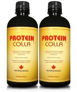Kit 2 Proteincolla Colágeno Hidrolisado Nutriscience 500ml