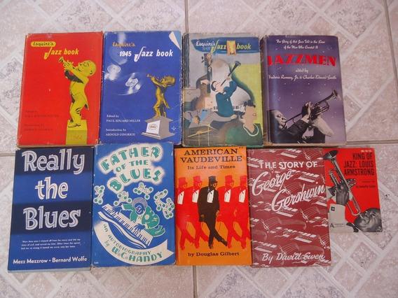 Lote C/ 9 Livros Antigos Norte-americanos Sobre Jazz E Blues