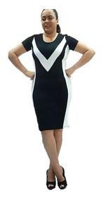 Vestido Evangelico Tubinho Bicolor Barato Roupas Femininas