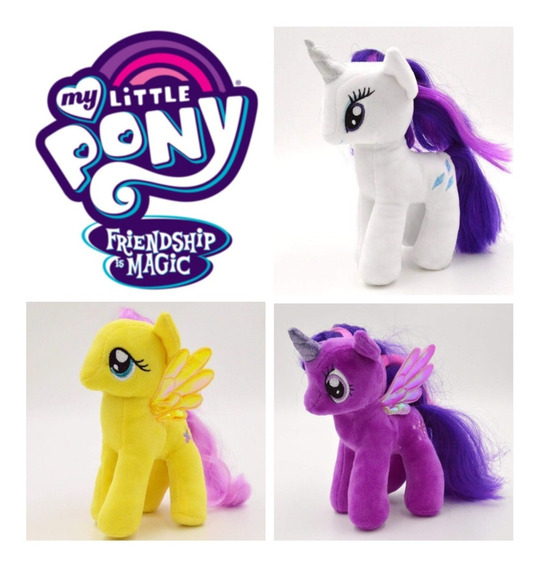 Kit Com 3 Pelucia Unicórnio My Litlle Pony
