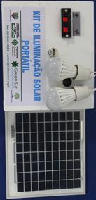 Kit De Iluminação Solar Portátil